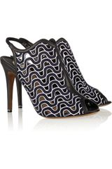 Nicholas Kirkwood Laser-Cut Leather Sandals - Lyst