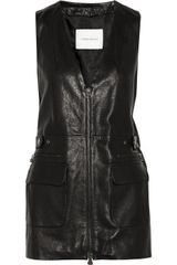 Pierre Balmain Leather Vest - Lyst