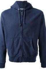 Polo Ralph Lauren Washed Hooded Sweatshirt - Lyst