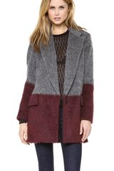 Rag & Bone Colorblock Dust Bowl Coat - Lyst