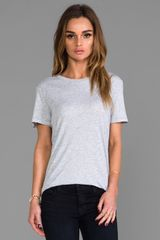 Rag & Bone The Boyfriend Tee in Gray - Lyst