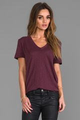 Rag & Bone The Jackson V Tee in Wine - Lyst