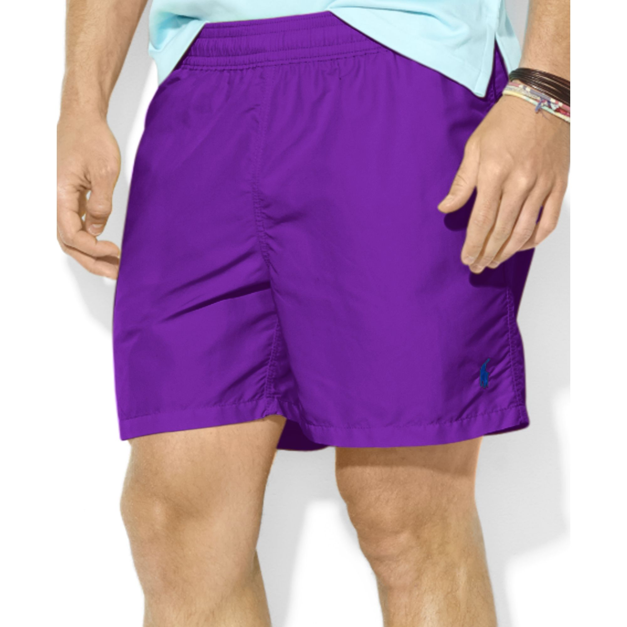 f38caa0049 ... norway lyst ralph lauren polo hawaiian solid swim shorts in purple for  men 7d963 79aab