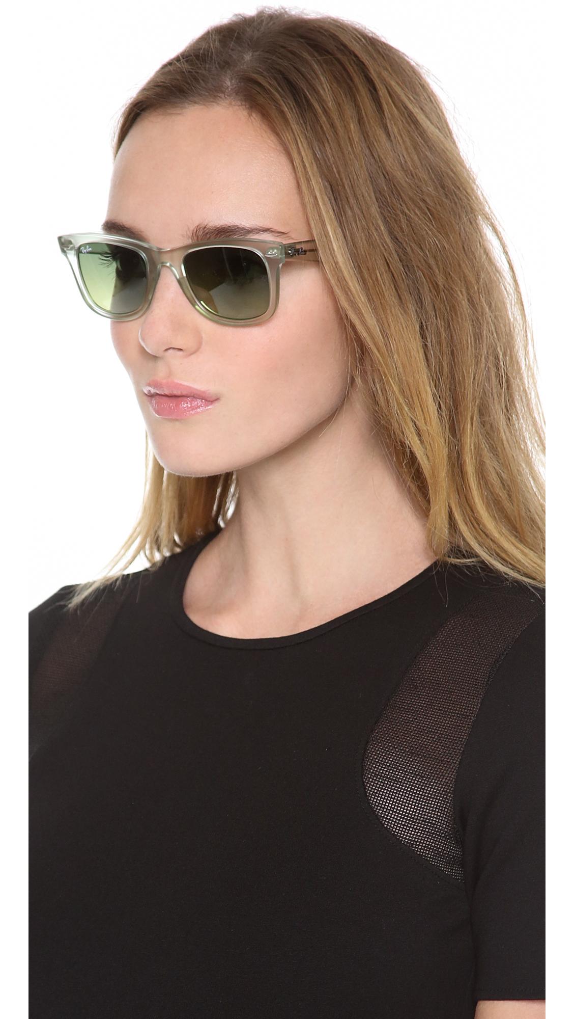 715a98f9d1 Ray-Ban Ice Pop Wayfarer Sunglasses in Green - Lyst