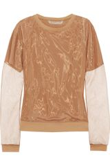 Reed Krakoff Silk-blend and Voile Top - Lyst