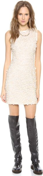 Rodarte Floral Beaded Dress - Lyst