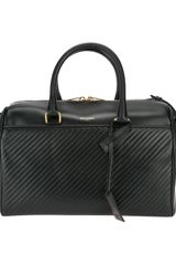 Saint Laurent Textured Duffle 12 Bag - Lyst