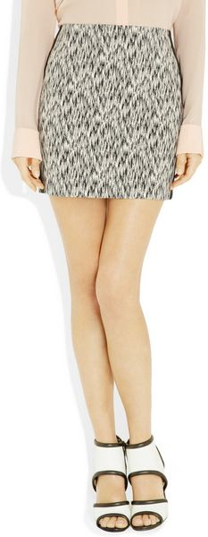 Sandro Joueuse Printed Stretch Cottonblend Mini Skirt - Lyst