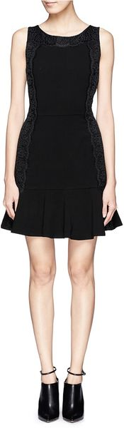 Sandro Lace Trimmed Sleeveless Dress - Lyst