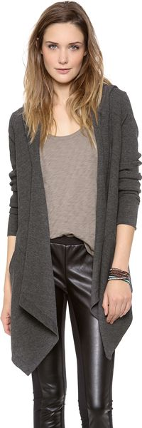 Splendid Thermal Hooded Cardigan - Lyst
