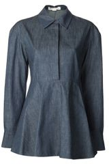 Stella McCartney Chambray Peplum Tunic - Lyst