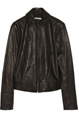 T By Alexander Wang Washed leather Biker Jacket - Lyst