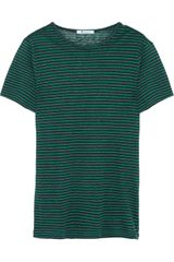 T By Alexander Wang Striped Linen Jersey T-Shirt - Lyst