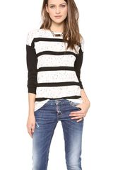 Tibi Striped Easy Pullover - Lyst