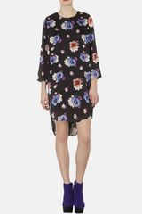 Topshop Floral Tunic Dress - Lyst