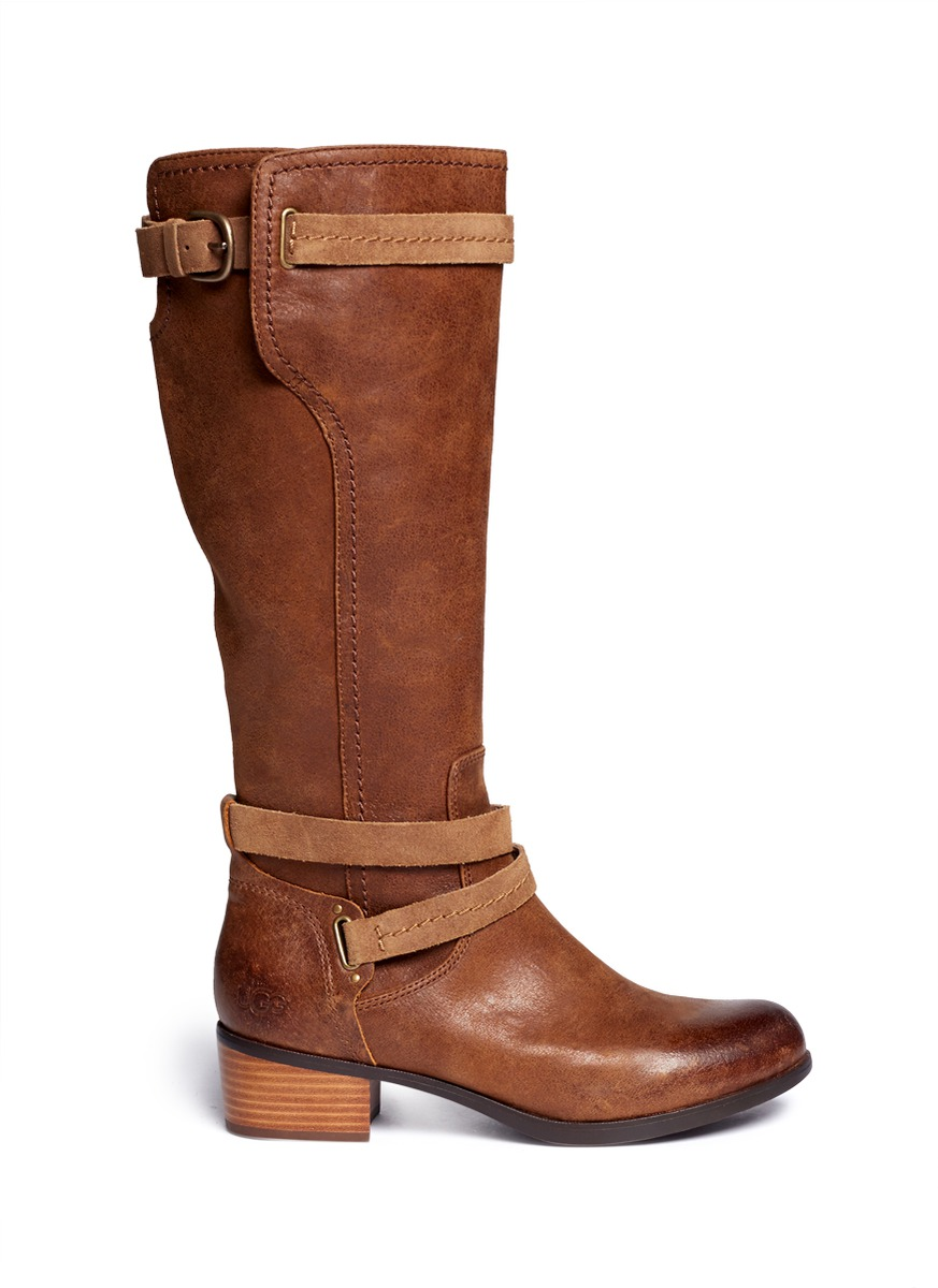 Lyst Ugg Darcie Leather Boots In Brown