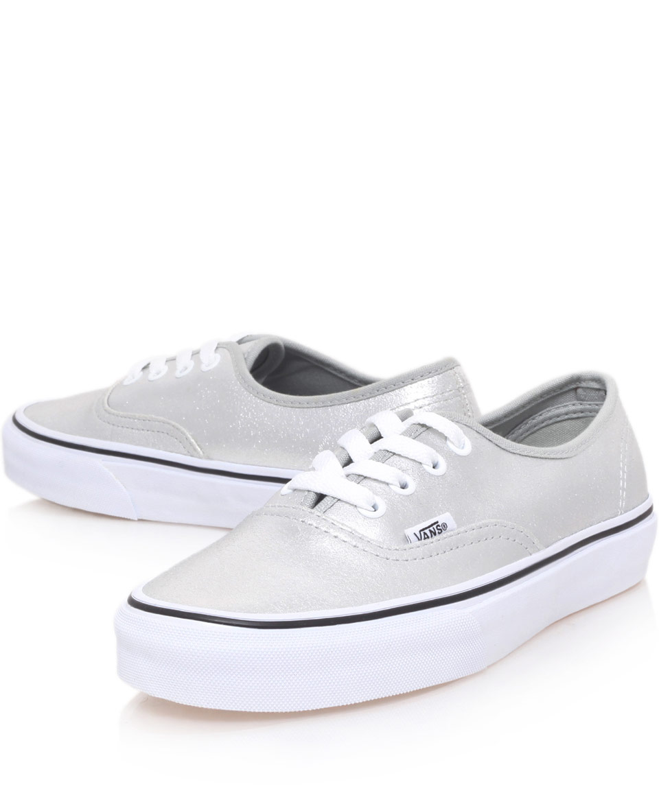 silver vans trainers