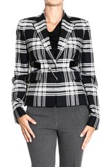 Versace Jackets Galle Jacket with Brooch - Lyst