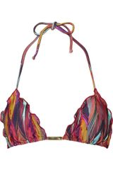 Vix Napo Ripple Printed Triangle Bikini Top - Lyst