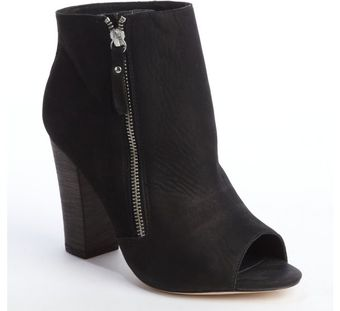 Zadig & Voltaire Black Leather Rapture Peep Toe Ankle Boots - Lyst