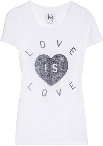Zoe Karssen Love Is Love Jersey T-Shirt - Lyst