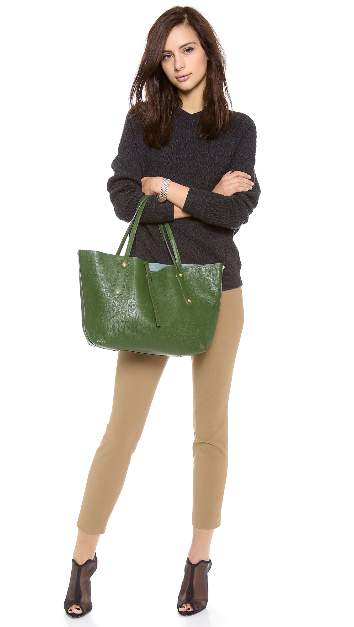 Lyst - Annabel Ingall Small Isabella Tote in Green aba2d095e1016