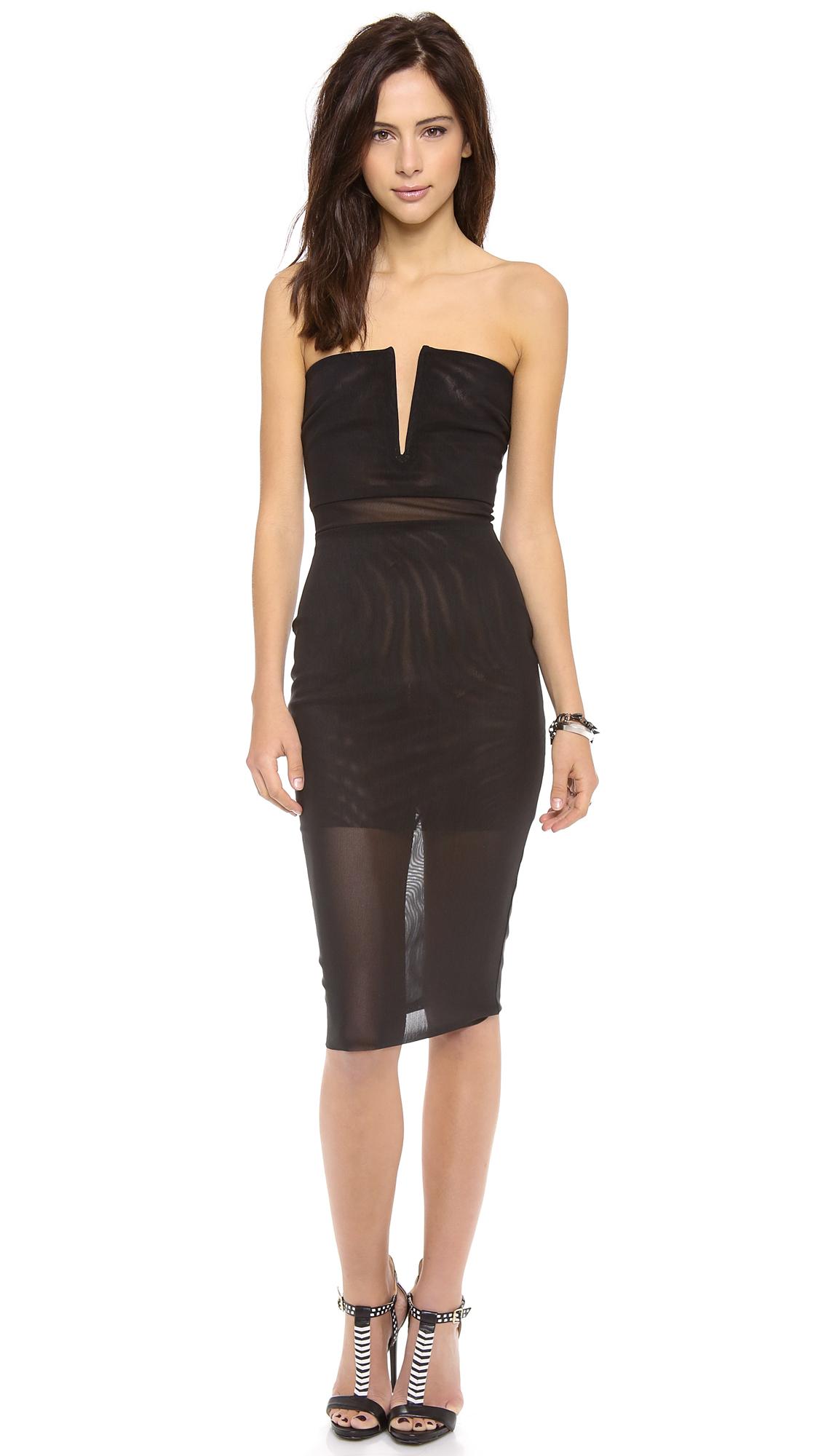 Bec Amp Bridge Kathy Strapless Dress In Black Lyst