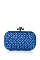 Bottega Veneta Intrecciatowoven Satin Watersnake Clutch - Lyst