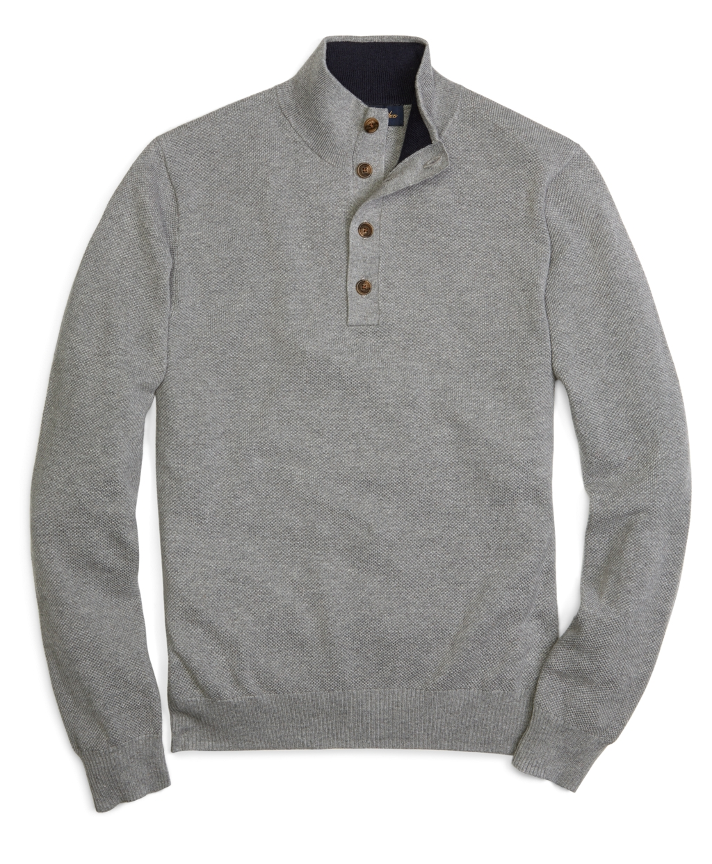 3061fe01fde0 Lyst - Brooks Brothers Cotton Cashmere Button Mock Neck Sweater in ...