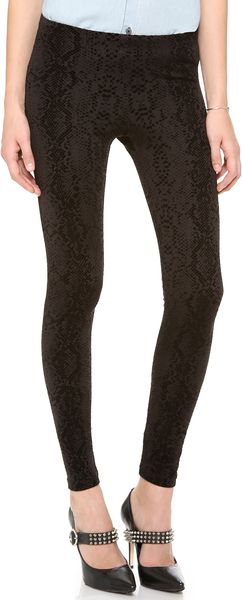 David Lerner Velvet Snake Flocked Leggings - Lyst