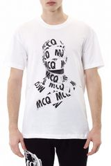McQ by Alexander McQueen Taped Figureprint Tshirt - Lyst
