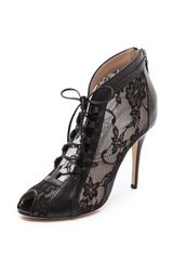 Monique Lhuillier Lace Up Booties - Lyst