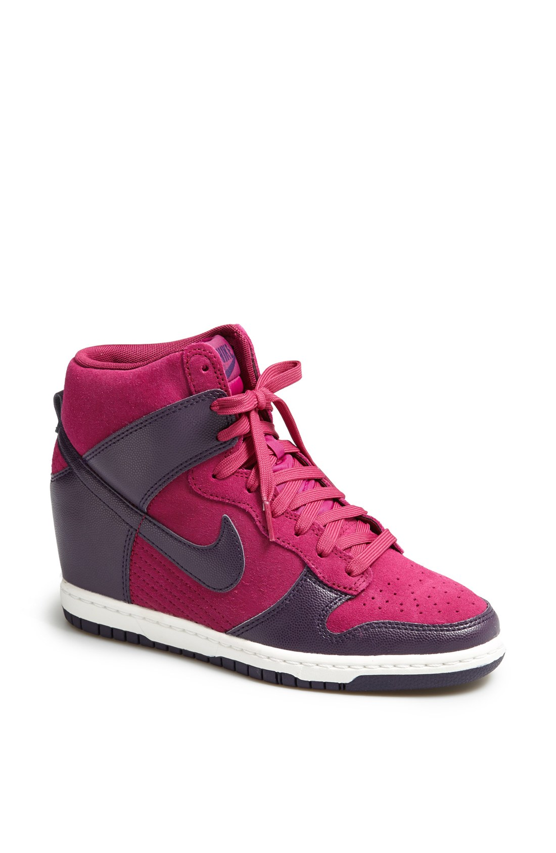 nike dunk sky hi wedge sneaker in purple purple dynasty purple dynasty lyst. Black Bedroom Furniture Sets. Home Design Ideas