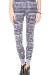 Splendid Printed Thermal Leggings - Lyst