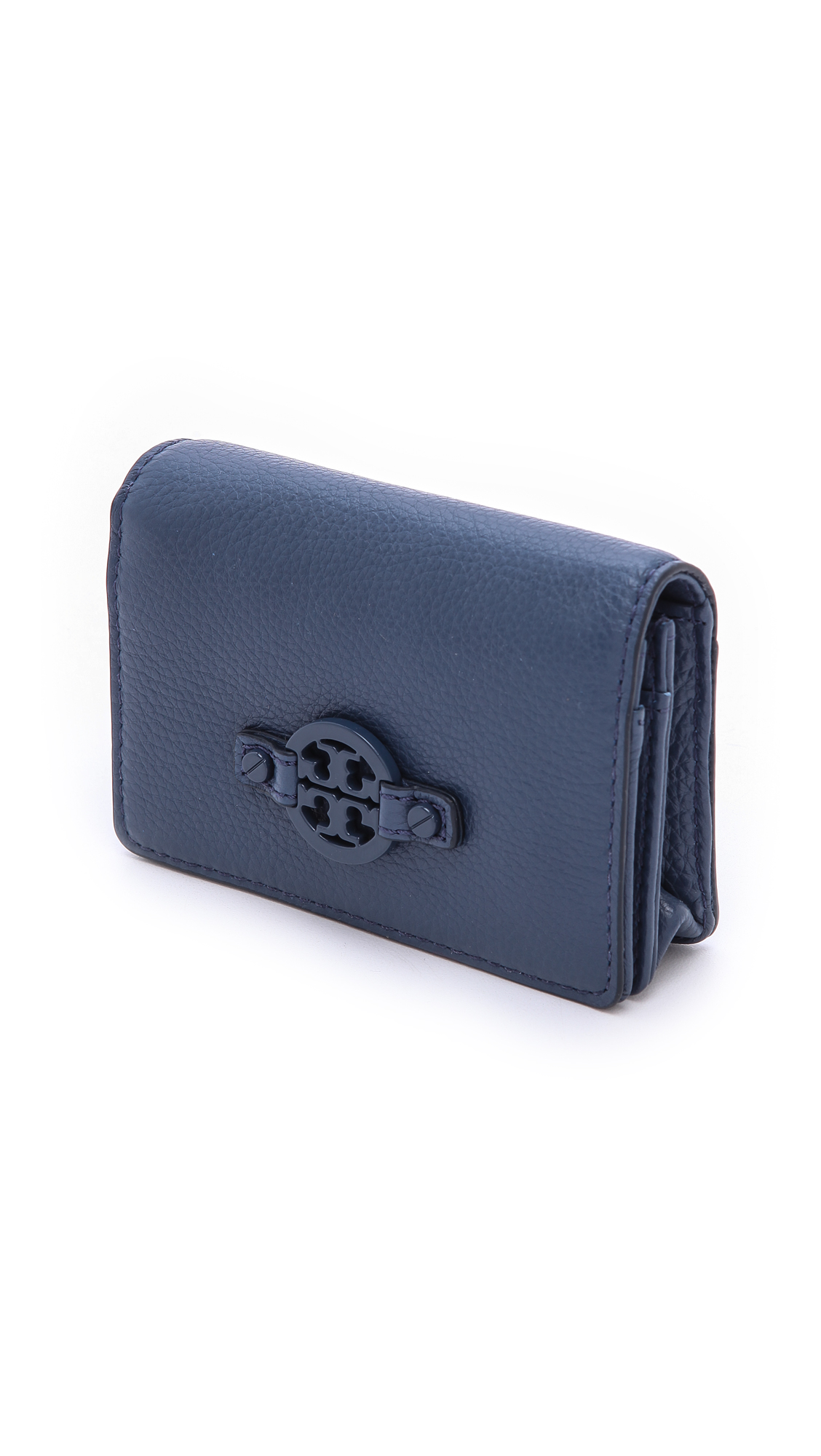 Lyst - Tory Burch Amanda Foldable Card Case in Blue