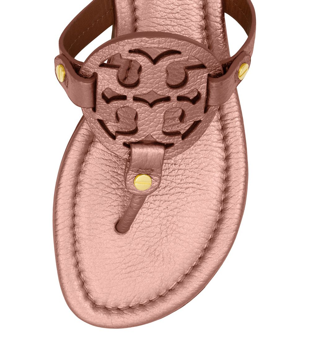 513f01a788caff Lyst - Tory Burch Miller Metallic Sandal in Pink