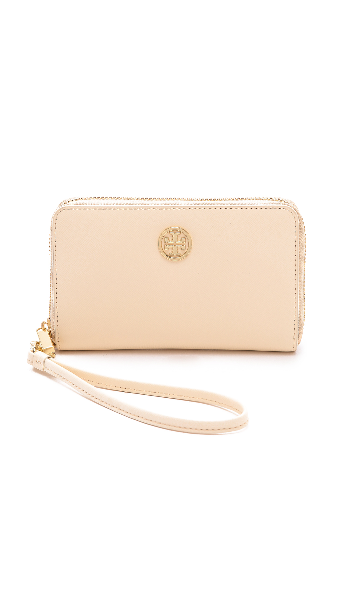 572d1595924 Lyst - Tory Burch Robinson Smartphone Wristlet in Natural