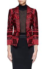 Alice + Olivia Christian Embroidered Blazer - Lyst