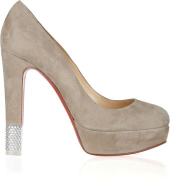 Christian Louboutin Filter 140 Crystalembellished Suede Pumps - Lyst
