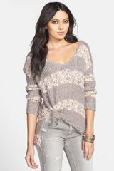 Free People Stripe Highlow Pullover - Lyst