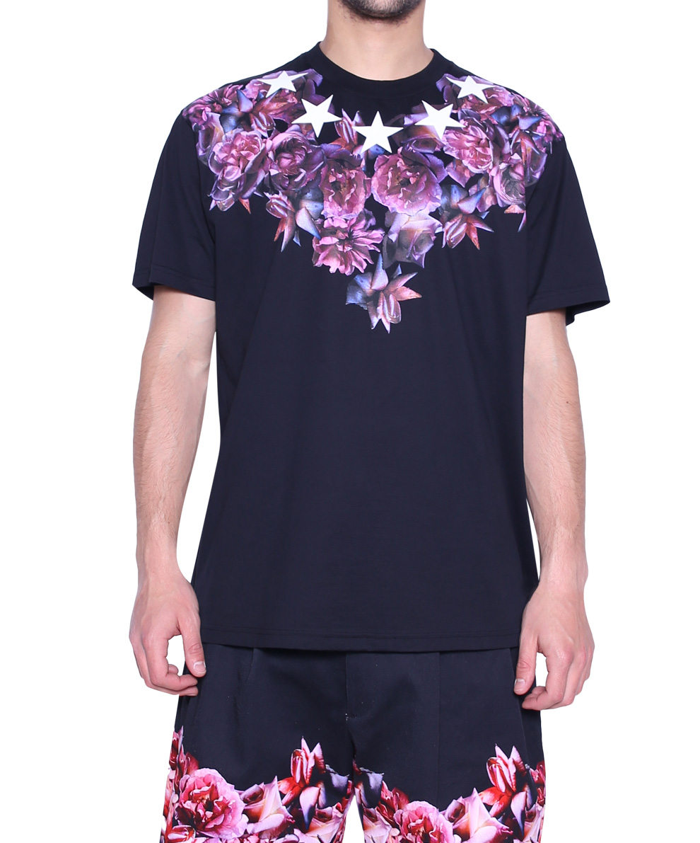 givenchy printed cotton tshirt in black for men lyst. Black Bedroom Furniture Sets. Home Design Ideas