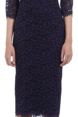 L'Wren Scott Lace Empire Waist Dress - Lyst