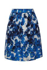 Prabal Gurung Floral print Cotton twill Skirt - Lyst