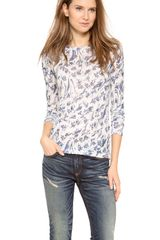 Rag & Bone The Burnout Long Sleeve Tee - Lyst