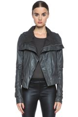 Rick Owens Classic Leather Biker Jacket - Lyst