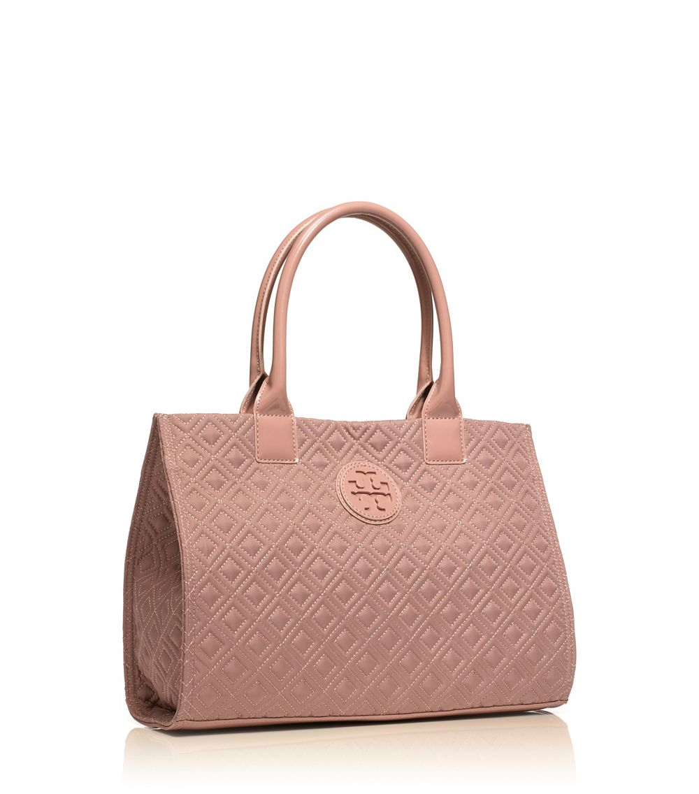 29700ee2790 Tory Burch Mini Ella Quilted Tote in Natural - Lyst