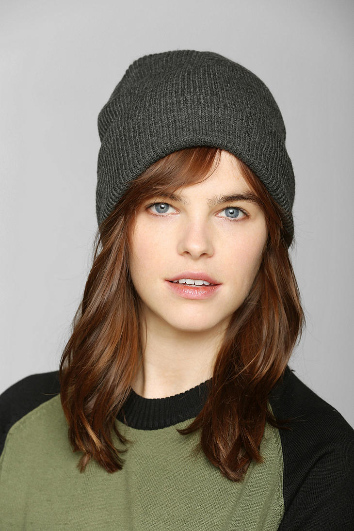 Lyst - Urban Outfitters Bdg Cuffed Ribknit Beanie in Gray a1961f4d204a