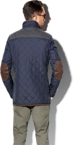 Vince Camuto Nylon Quilted Jacket In Blue For Men Navy