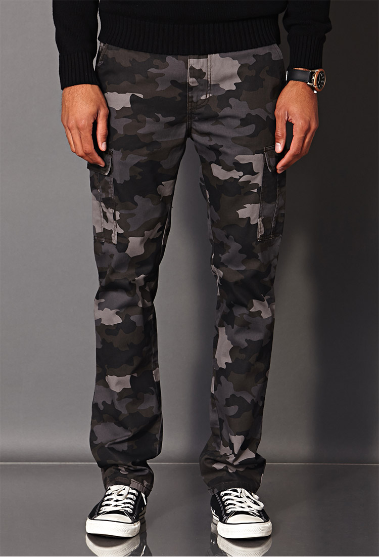 Lyst - Forever 21 Combat Camo Pants in Black for Men a74a569760b