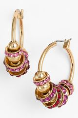 Anne Klein Beaded Hoop Earrings - Lyst